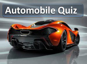 automobile quiz